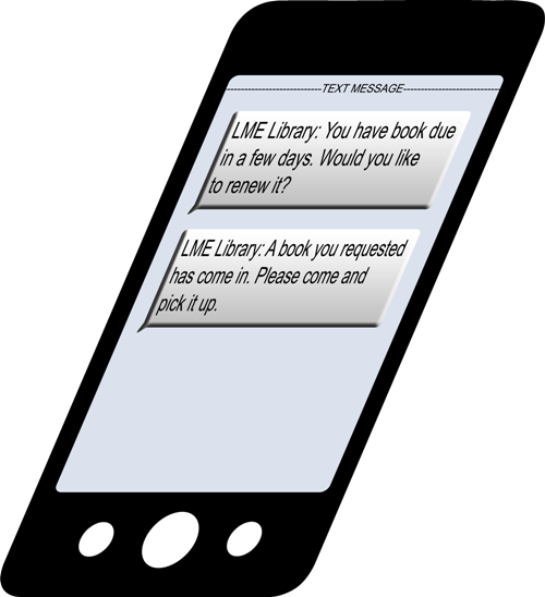 Cell phone with text messages on it