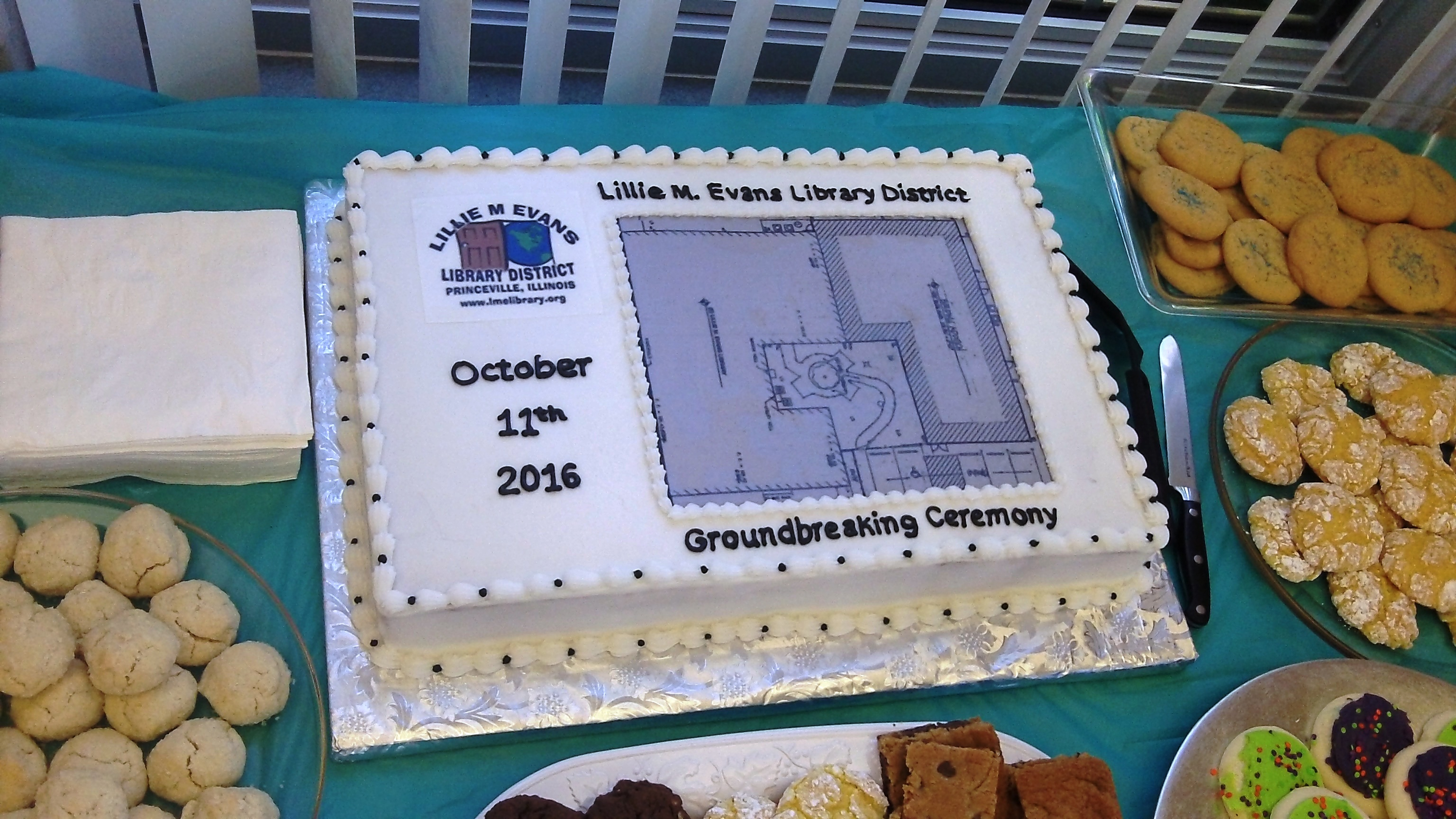 Groundbreaking Ceremony cake