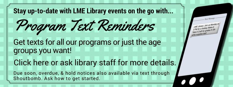 Get in the loop. Program text reminders