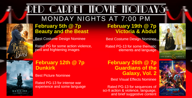 Red Carpet Movie Mondays in February 2018