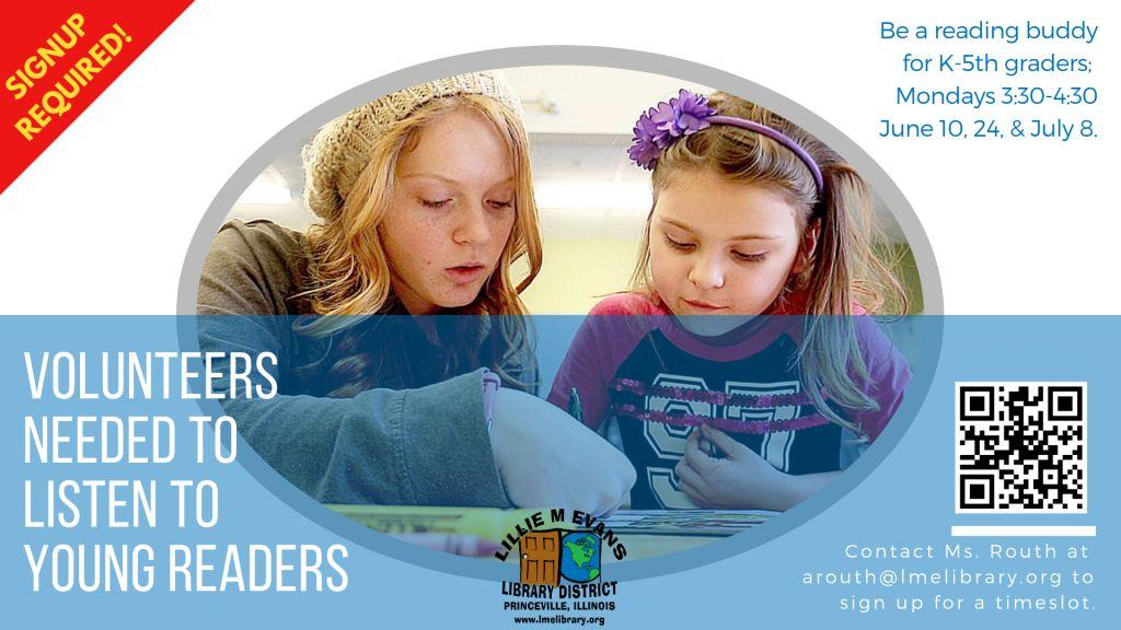 2019 Reading Buddy Volunteer Sign Up - DIG