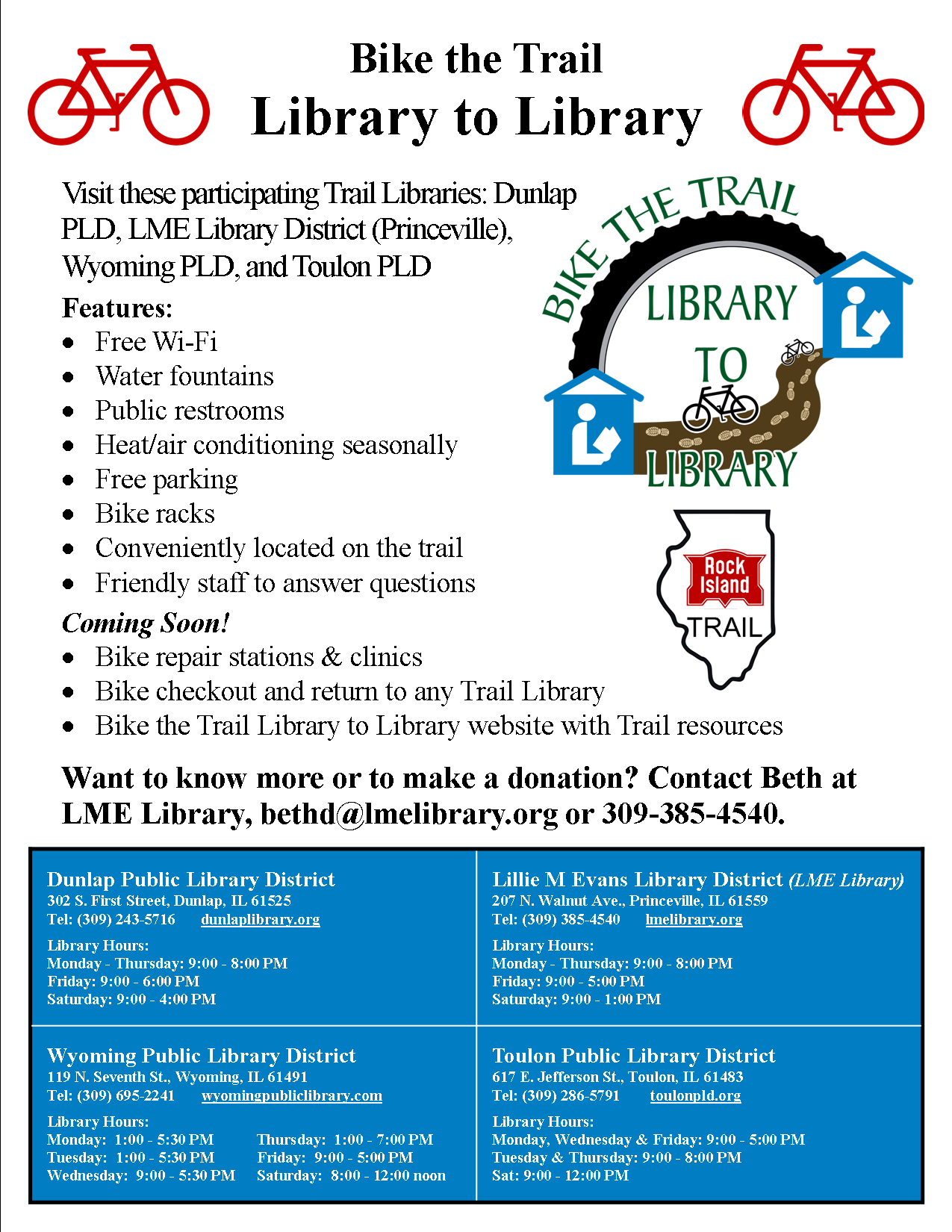 Introducing Bike the Trail Library to Library